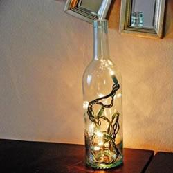玻璃瓶废物利用DIY浪漫小夜灯/台灯