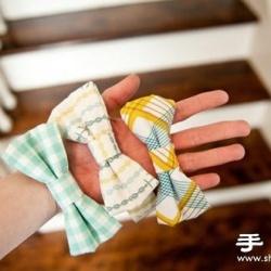 不织布教程:手工制作可爱儿童领结