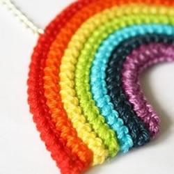 漂亮的彩虹手工艺品