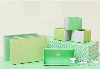 點心盒+包裝盒廢物利用製作實用收納盒