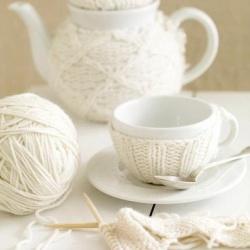 针织毛线杯套、壶套
