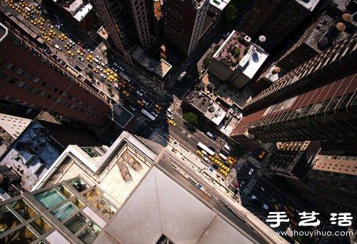从超高建筑物楼顶向下俯拍的摄影作品 手艺活网