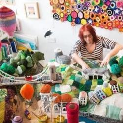 英国手工达人用针织DIY栩栩如生城市场景