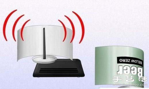 易拉罐DIY简易无线路由信号放大器 -  www.shouyihuo.com