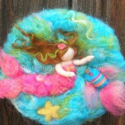 DIY类似油画效果的羊毛毡雕塑画