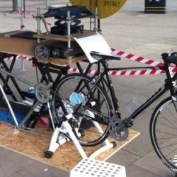 脚踏板动力印刷机 让你边骑车边印刷