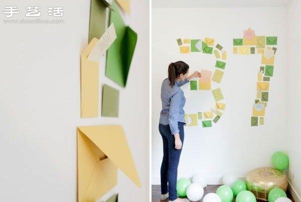 创意diy小清新信封墙