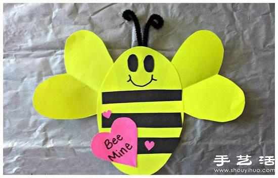可爱小蜜蜂的手工制作方法 手艺活网