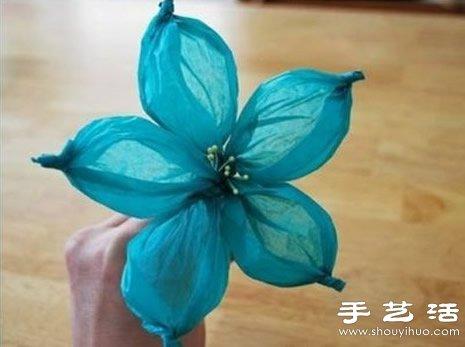 另类的绸纹纸纸花手工制作教程 -  www.shouyihuo.com