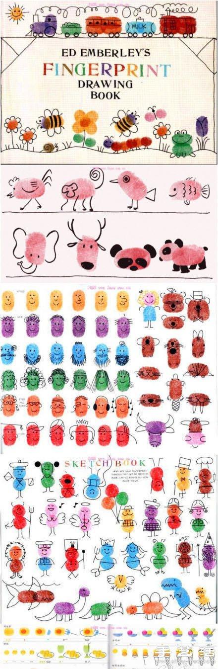 Met Art Calendar : Diy超有爱的儿童指纹画 手艺活网