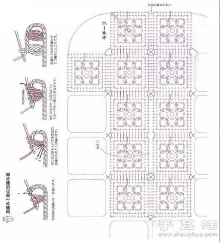 钩针编织漂亮纸抽盒 纸巾盒手工制作教程 -  www.shouyihuo.com