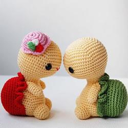 超萌的针织乌龟玩偶