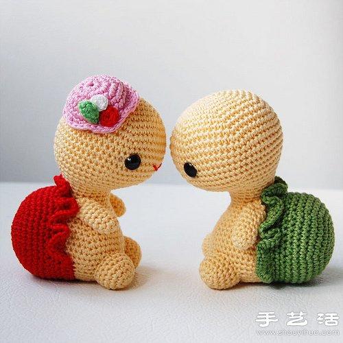 超萌的針織烏龜玩偶