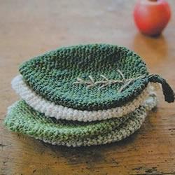 针织叶片形状的杯垫