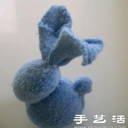 袜子手工制作兔子娃娃的方法
