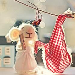 可爱的羊毛毡小老鼠