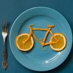 创意DIY水果皮自行车
