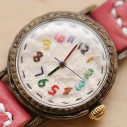 超可爱的布艺表盘腕表