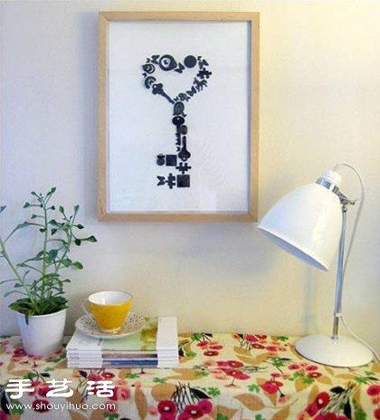 废旧小零碎DIY手工制作创意装饰画 -www.shouyihuo.com