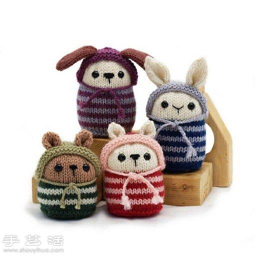 針織小動物玩偶