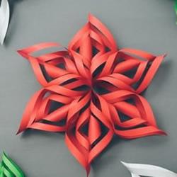 手工剪纸制作超美3D立体雪花教程