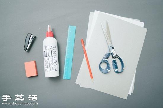 手工剪纸制作超美3D立体雪花教程 -  www.shouyihuo.com