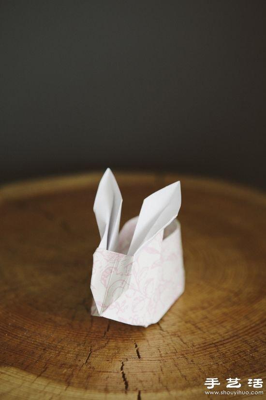 折纸大全盒子_手工折纸制作小兔子纸盒视频教程_手艺活网