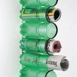 塑料瓶/饮料瓶废物利用手工制作书报架