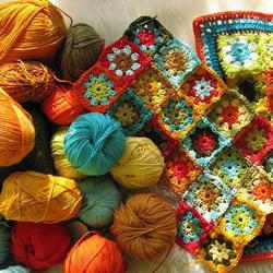 毛线编织的超美毯子