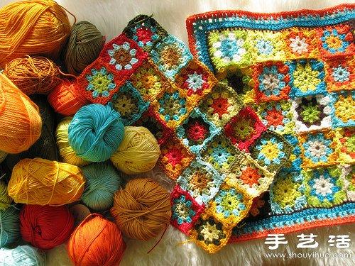 毛線編織的超美毯子