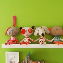 超萌的卡通造型手工布艺玩偶