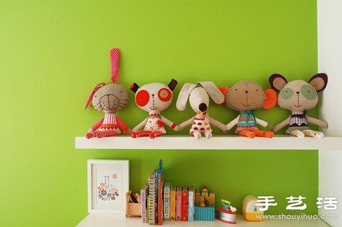 超萌的卡通造型手工布藝玩偶