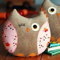 可爱猫头鹰布偶