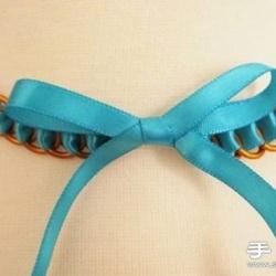 金属环+丝带 时尚优雅项链的制作方法