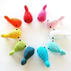超萌的多彩针织小鱼