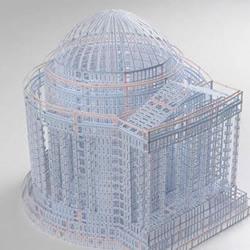 账簿纸DIY宏伟壮观的建筑物模型