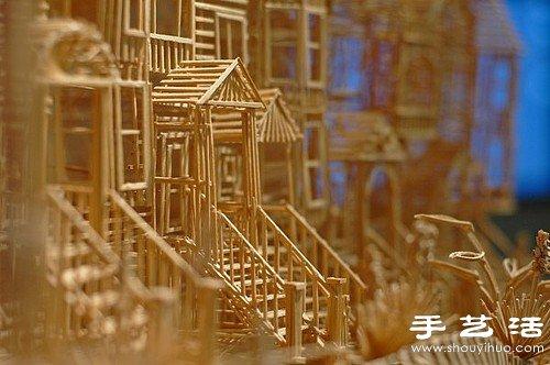 35年10萬根牙籤純手工製作舊金山街景模型