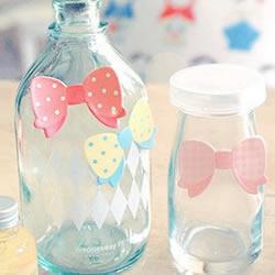 玻璃瓶+领结 小清新创意DIY