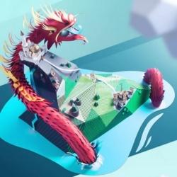 硬纸板和卡纸手工制作守护城堡的中国龙