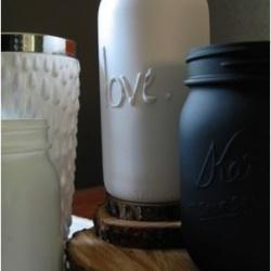 利用热熔胶在玻璃罐/玻璃瓶上DIY立体文字