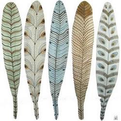 精美的羽毛绘画手工艺品