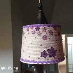 纸筒盒子废物利用制作简易灯罩的方法