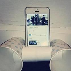 一次性纸杯+卫生纸卷筒 DIY制作手机音响