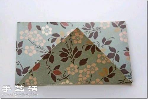 信封的折法:心形纸张折出精美信封的方法