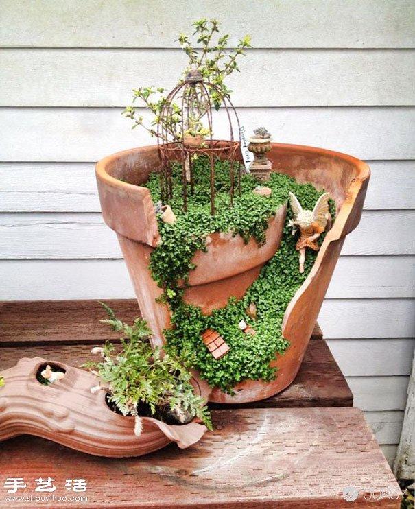 破花盆變廢為寶DIY製作超美的創意盆栽