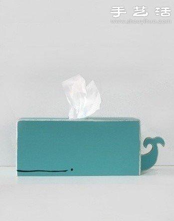 萌萌的鲸鱼抽纸盒 -  www.shouyihuo.com