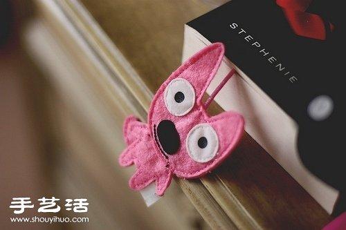 搞怪狗狗布艺书签 -  www.shouyihuo.com