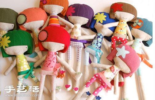 可爱布艺女生娃娃玩偶 -  www.shouyihuo.com