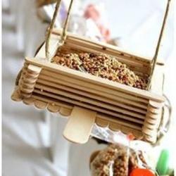 简单小手工:冰棒棍制作花盆/收纳筐/吊