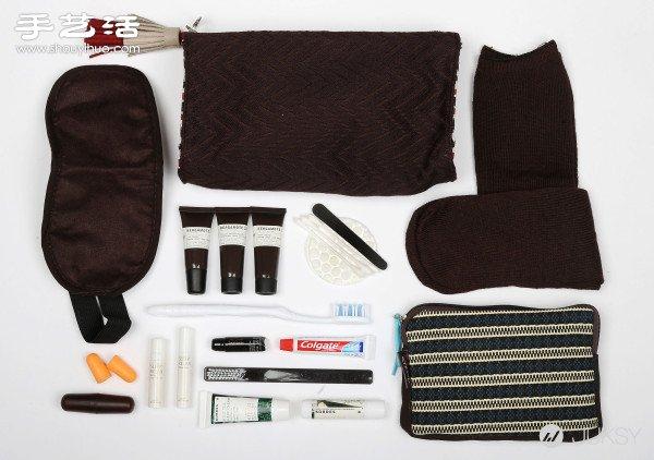 五家航空公司头等舱的六星级旅行盥洗包